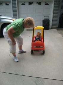 Tammy playing with Ruthie