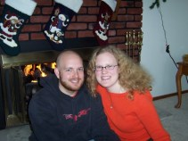 Our first holiday together: spending Thankgiving with his family in Iowa (2005)