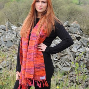 womens-scarves-japanese-bridge-pumpkin-orange-by-liz-christy