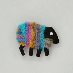 LizzyC Sheep Fridge Magnet