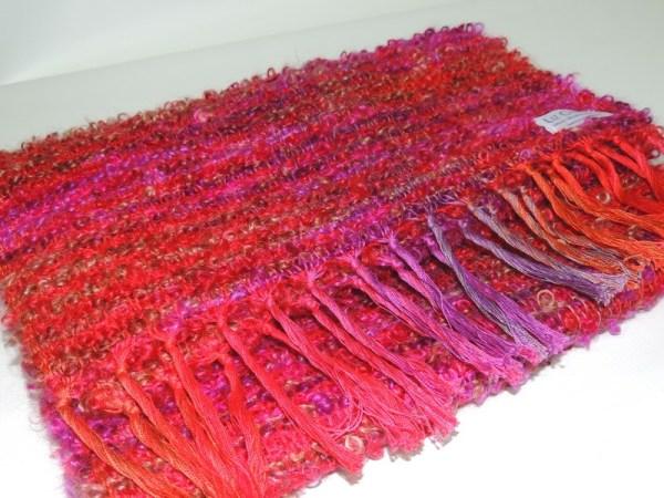 Hand woven scarf japanese bridge berry crush