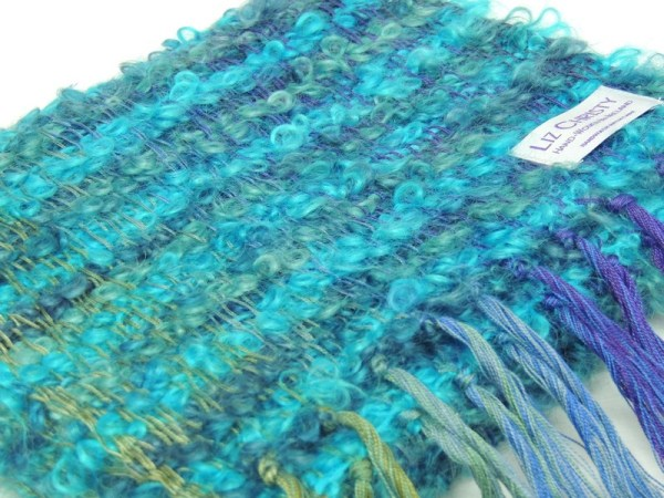Waterlillies Scarf Cerulean Blue