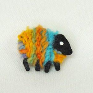 LizzyC|Sheep|Brooch|Aurora