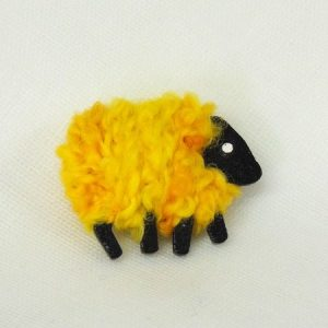 LizzyC Sheep Brooch Buttercup