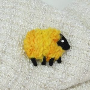 Buttercup|yellow|sheep|pin|lizchristy