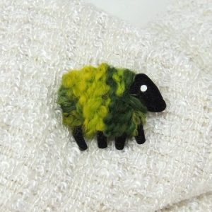LizzyC|Sheep|Brooch|Greengrass