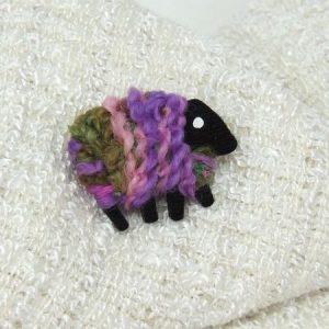 lizzyc|sheep|brooch|pink_lilac_green