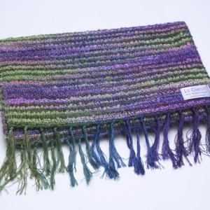 folded-irish-wool-scarf-waterlillies-lavender-dreams