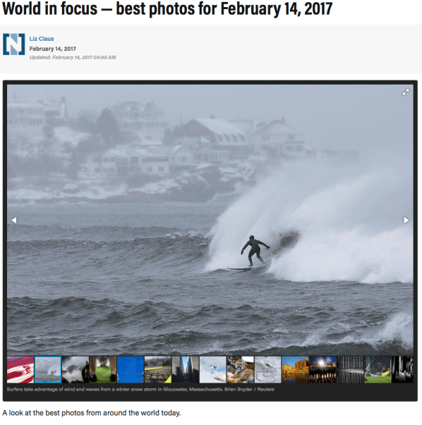 World in focus — best photos for February 14, 2017