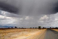 Weather extremes in Tarangire National Park, October 12, 2011.