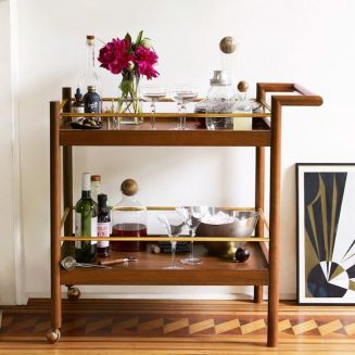 Mid-century-bar-cart