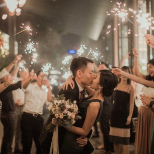 Sparklers Wedding Singapore, Pastel Bouquet, Bridal Bouquet Singapore, Rustic Wedding