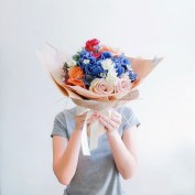 Wrapped Bouquet Liz Florals 1
