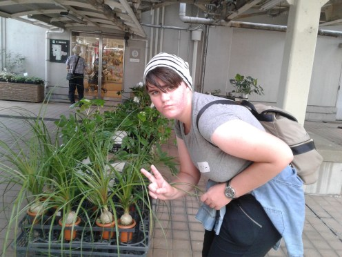 Lizzie with cool plants