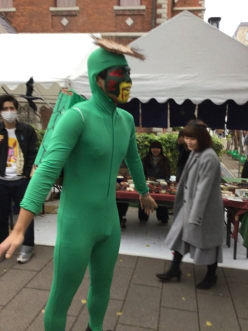 Green suit guy