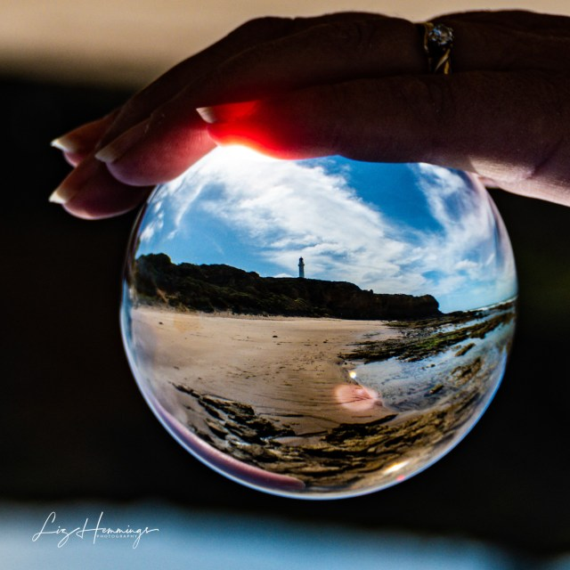Round the Twist Lighthouse through the Lens Ball