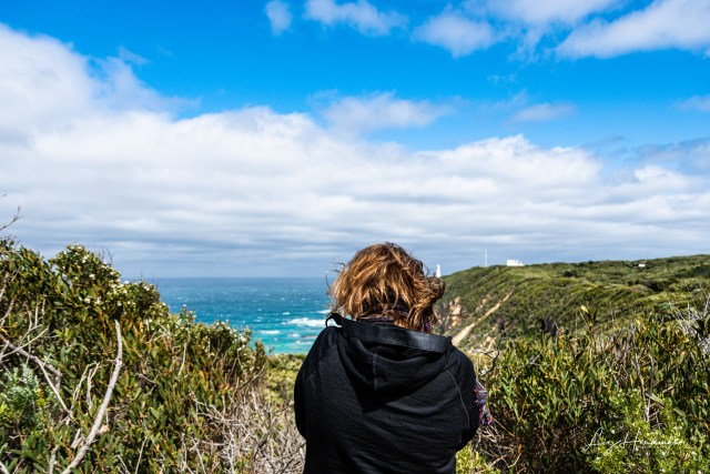 Corina taking an awesome shot of the Cape Otway Lighthours. Check out her insta to see it