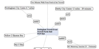 Nottingham Trowell Map