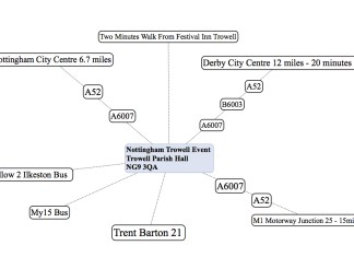 Nottingham Trowell Map : LizianEvents : Lizian Events