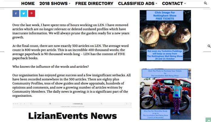 500th Article - LizianEvents