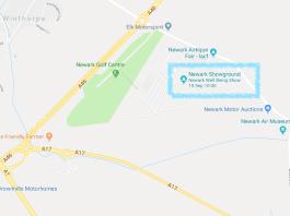Newark Show Ground Map