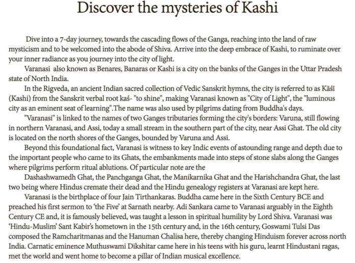 Discover The Mysteries of Kashi : LIzianEvents : Lizian Events