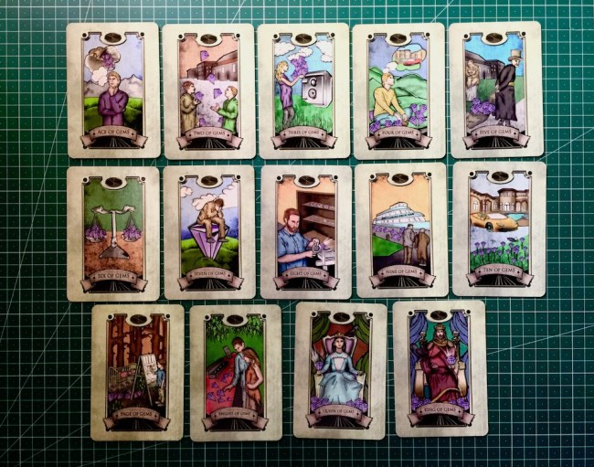 Gems : Simon Goodfellow's Spiritual Tarot Deck : LizianEvents : Lizian Events ; Well Being : LifeStyle