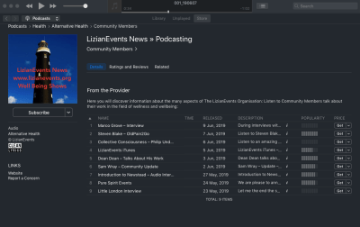 iTunes Page: LizianEvents