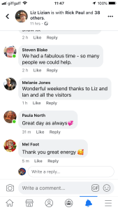 LizianEvents: Comments: Testimonial