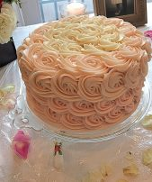 Ombre Rose Petal Chocolate Cake