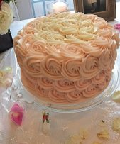 Ombre Rose Petal Chocolate Cake