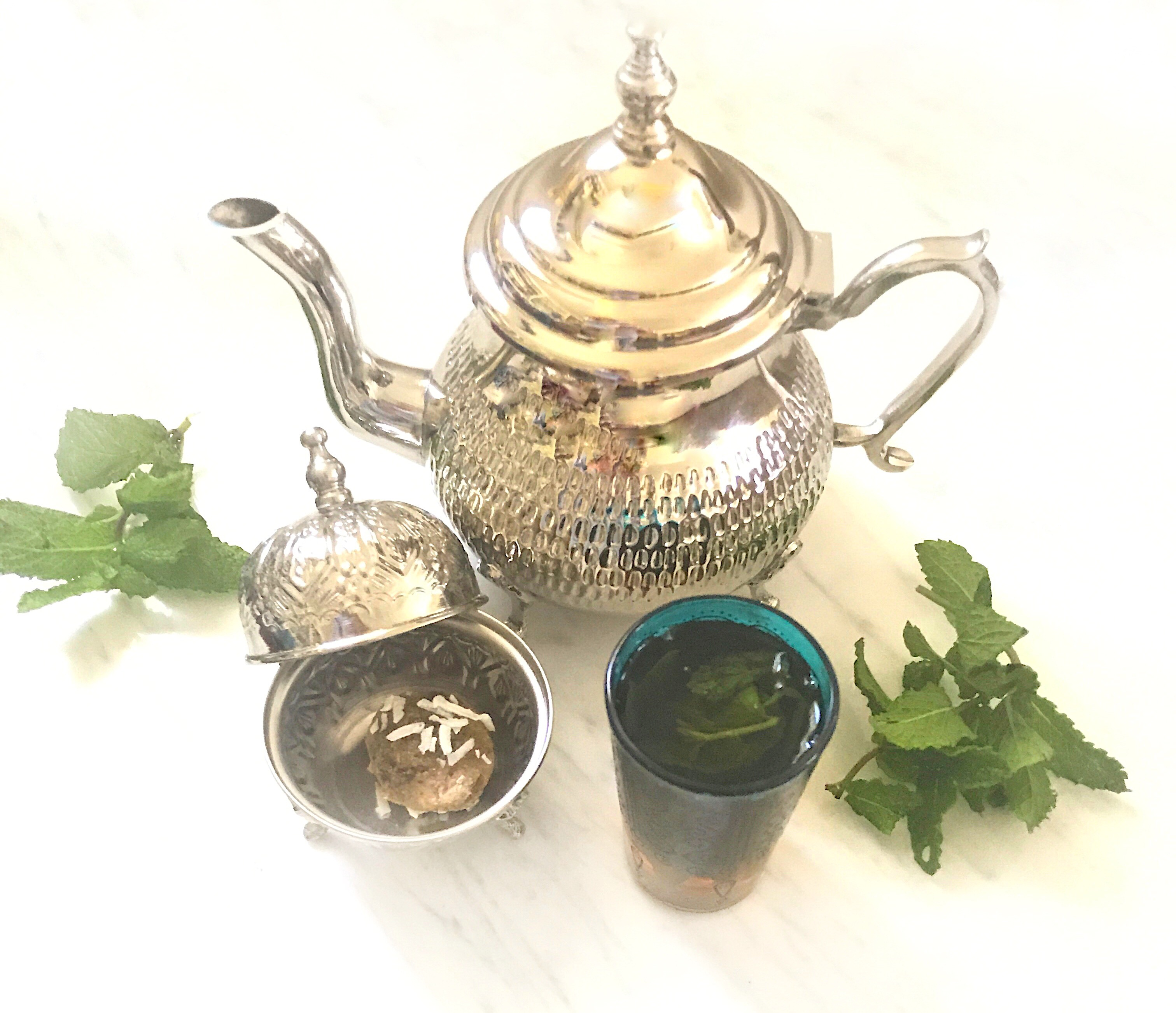 Moroccan mint tea & Halva