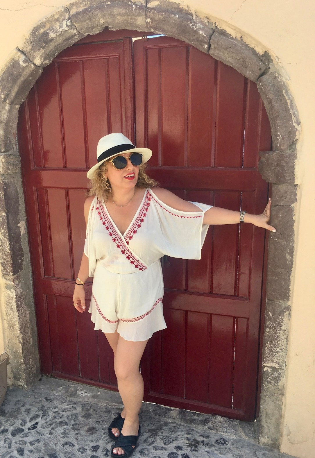 Travel Style in Santorini by Los Angeles Blogger