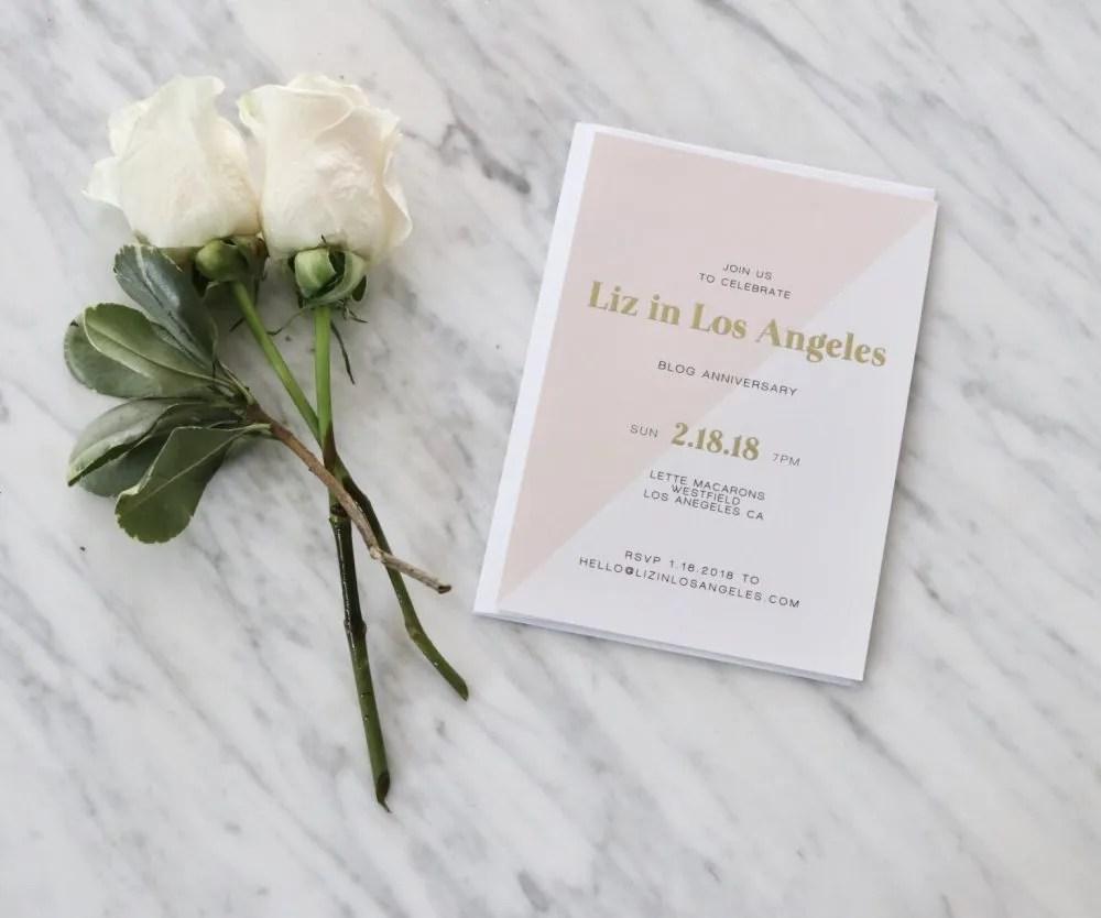 Blog Anniversary Invite Cards