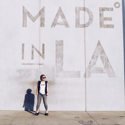Made in LA: Distressed at Made in LA Mural with Daydreamer + J Brand