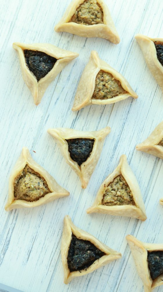 Olive Tapendate Hamantashen, a blog post by Liz in Los Angeles, Los Angeles Lifestyle Blogger: an image of Purim Cookies / Hamantaschen