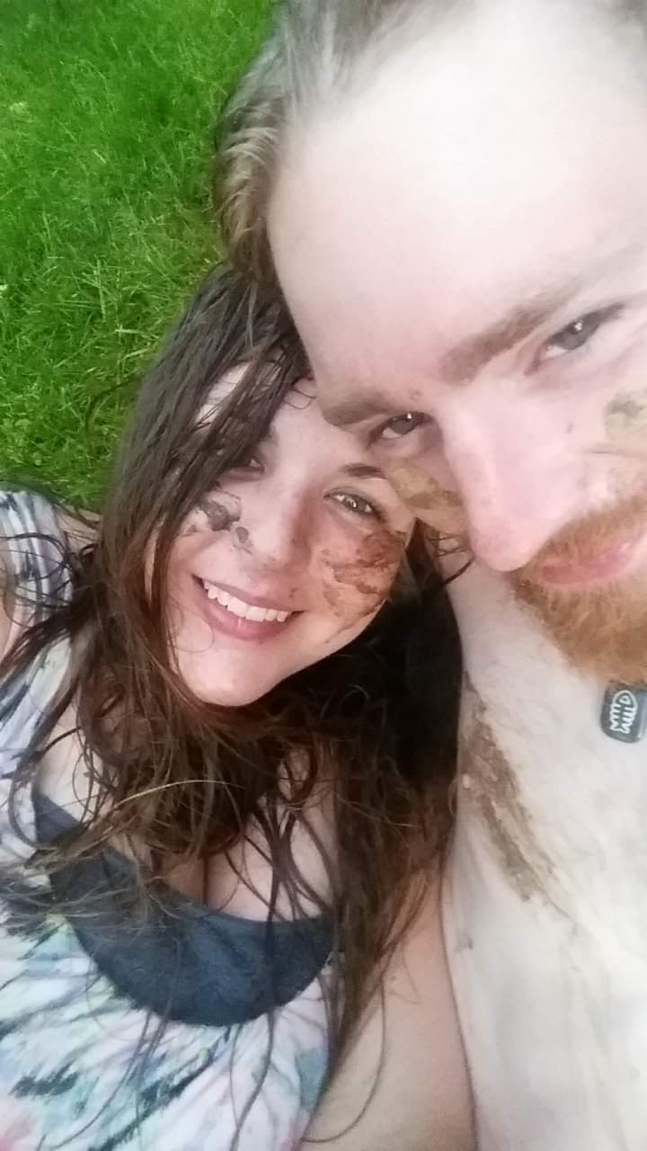 Sean and Me After a Post-Thunderstorm Mud Fight