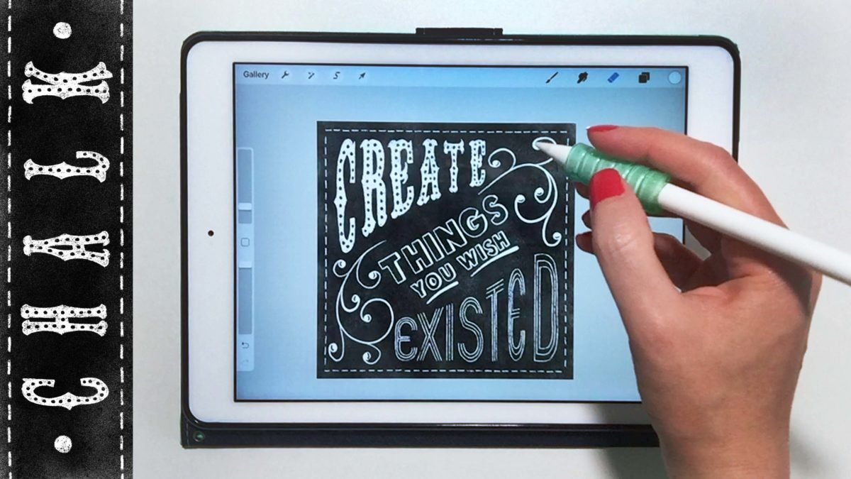 New Lettering Templates, Chalk Brushes, & Fonts for Procreate