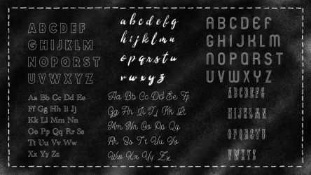 New Lettering Templates, Chalk Brushes, & Fonts for