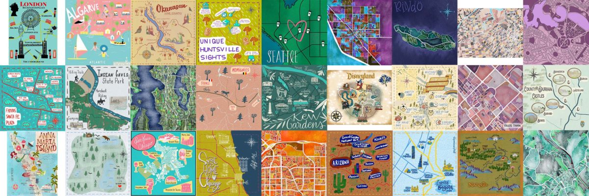 Illustrated Maps Contest Winner and Inspiring Entries