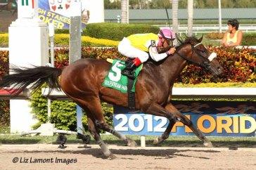 Grace Hall (KY) with jockey Javier Castellano