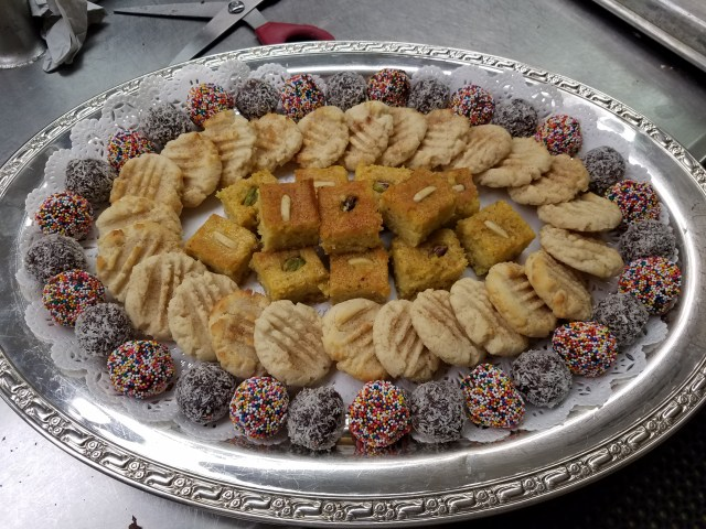 Another tray of desserts for a Jerusalem-themed event