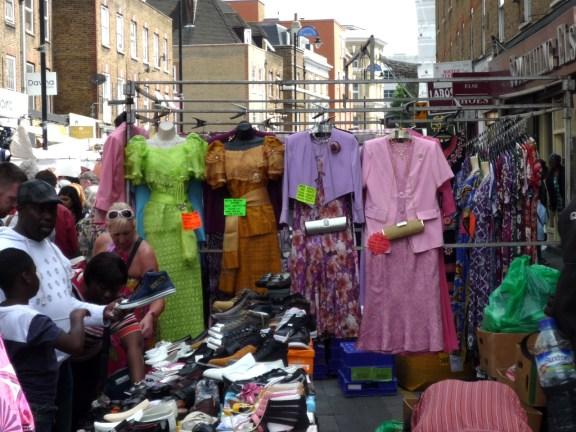 Fine frocks on Petticoat Lane Market