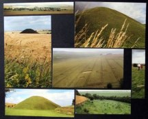 Scrapbook page of Silbury Hill and crop circles 1988