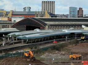 Preparation of new arena site next to Temple Meads station