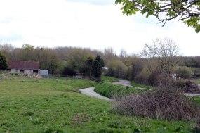 An old road, Summer Lane, winds across the Moors alongside a rhyne