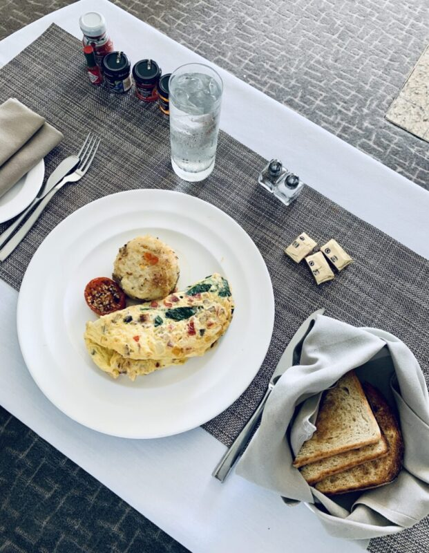Liz Olusesan Fontainebleau Miami Beach Hotel Florida Breakfast Food
