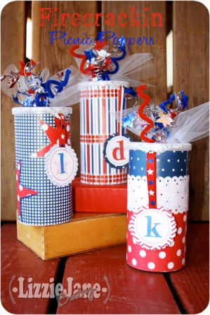 4th of July popper with fun surprises for kids inside #4thofJuly #kidcraft