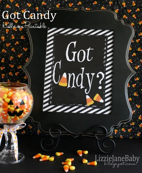 Got Candy free printable for Halloween