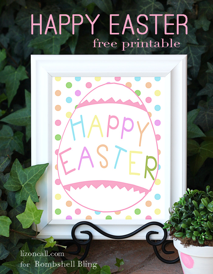 picture relating to Happy Easter Printable identify Content Easter Printable: A great, festive addition towards your